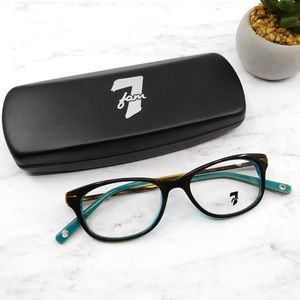 """7 FOR ALL MANKIND """"Joshua"""" Brown & Teal Glasses"""